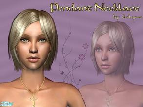 Sims 2 — Cross Pendant Necklace by daLyna — Diamond Accent Cross Pendant in Gold ..:: Enjoy! ::..