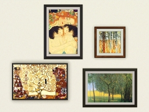 Sims 3 — Gustav Klimt Paintings by missyzim — A set of paintings by Gustav Klimt. TSRAA