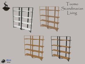 Tuomo Nordic Wooden Bookshelf