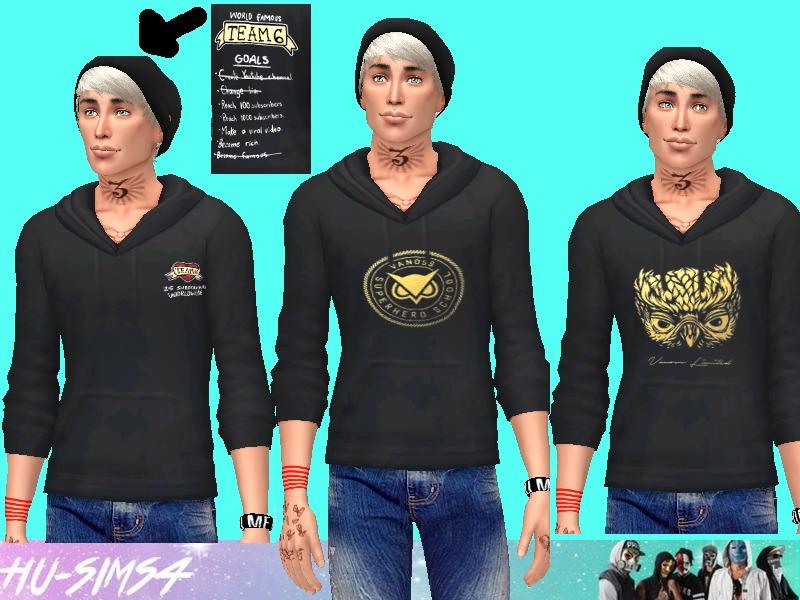 hu-sims4's Vanoss Gaming Male Hoodie