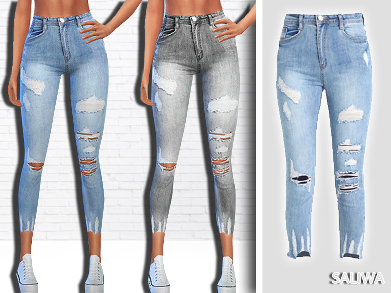 62eac6da217 Saliwa's New Style Ripped Authentic Jeans