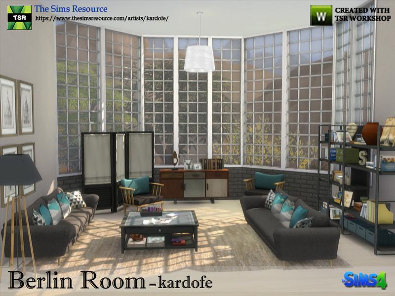 kardofe berlin room the sims 4 download simsdomination. Black Bedroom Furniture Sets. Home Design Ideas