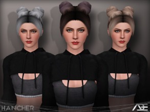Sims 3 — Ade - Hancher by Ade_Darma — New Hair Mesh No Morph all Bones assigned All LODs