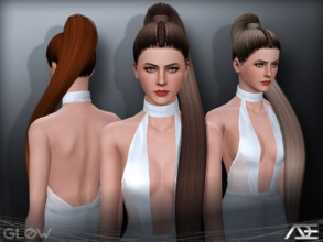 Sims 3 — Ade - Glow by Ade_Darma — New Hair Mesh No Morph all Bones assigned All LODs