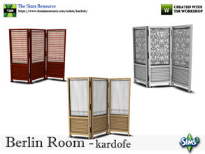 Sims 3 — kardofe_Berlin Room_Screen by kardofe — Room divider, wood, with curtain