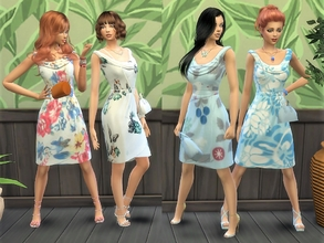 Sims 4 — dressed for any formal occasion by padry67 —  they are four formal dresses of medium length, suitable for every