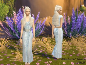 Sims 4 — Khaleesi Gown by Simmring — *NEEDS MESH* This is my version of Daenerys Targaryen's pale blue and white gown. I