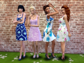 Sims 4 — Dressed for going around - Seasons needed by padry67 — Dressed for going around, at the park, by the beach, in a