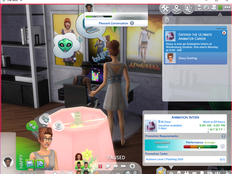 Madison : Sims 4 careers promote cheat