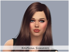 Sims 4 — Kaitlynn Summers by ToriPlayzSims — Kaitlynn Summers is a young adult, She has the Soulmate/Alluring trait, who