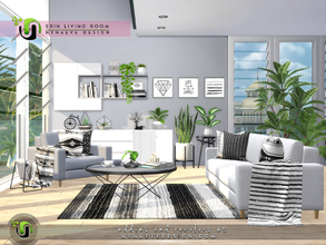 Sims 4 — Erin Living Room by NynaeveDesign — It's time to give your sim's living room a refresh. Whether you're going for