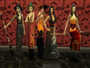 Sims 4 — witches - Luxury Party needed by padry67 — Here comes Halloween, the base of the dress is the Luxury Party game.