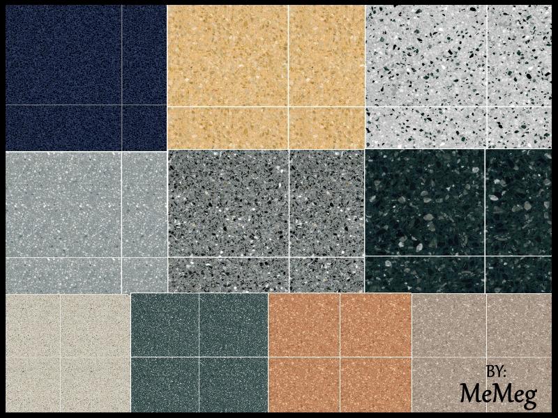 Megsimple S Terrazzo Floor Tiles