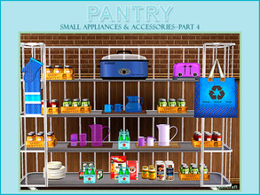 Sims 3 — Pantry Part 4 Small Appliances & Accessories by Cashcraft — Pantry Part 4 includes 10 new objects and/or