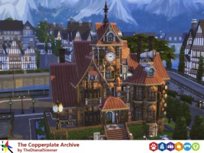 Sims 4 — The Copperplate Archive by TheDismalSimmer — Mr. Copperplate was an eccentric billionaire who had a fascination