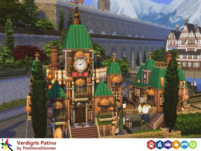Sims 4 — Verdigris Patina by TheDismalSimmer — Just like clockwork, here is a steampunk themed lounge that doubles as a