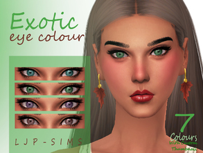 Sims 4 — Exotic Eye by LJP-Sims — -with 7 natural exotic colours -with custom thumbnail -unisex -cas categories facepaint