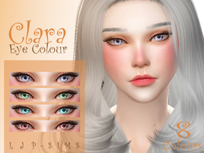 Sims 4 — Clara Eye Colour by LJP-Sims — -with 8 bright colour -with custom thumbnail -unisex -cas categories facepaint