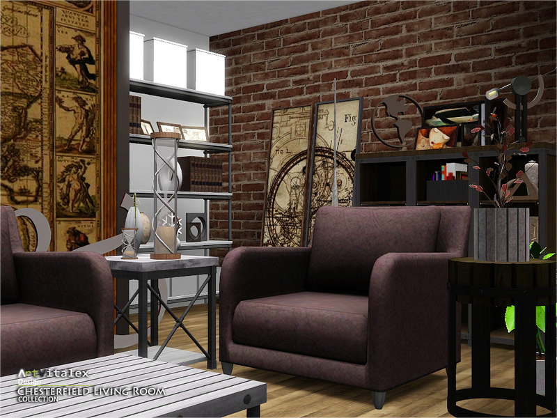 Artvitalex 39 S Chesterfield Living Room