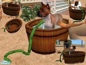 Sims 2 — Dog Bath - New Mesh by Vanilla_Love — I was using a tub as a dog bath outside, and I hated when a sim would