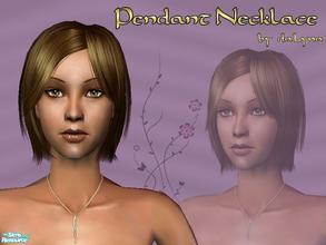 Sims 2 — Twisted Drop Necklace by daLyna — Twisted Drop Pendant In Gold ..:: Enjoy! ::..