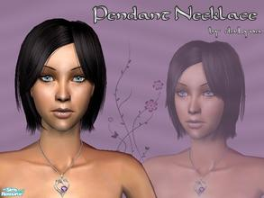 Sims 2 — Heart-Shaped  Necklace by daLyna — Sublime White Gold Heart-Shaped Amethyst Pendant With A Diamond Accent ..::