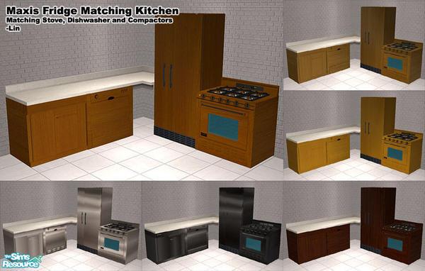 H lin 39 s maxis fridge matching kitchen for Matching kitchen sets