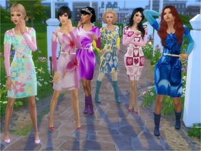 Sims 4 — Autumn Dress - City Living needed by padry67 — Autumn dress, the dress is in the game City Dress. Colorful,