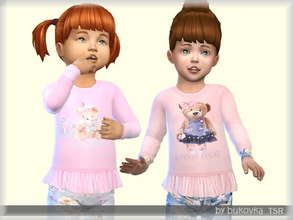 Sims 4 — Shirt Little Bear  by bukovka — Shirt for girls Toddler. New mesh mine included. Suitable for the base game. It