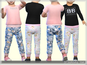 Sims 4 — Pants Little Bear  by bukovka — Pants for girls Toddler. They are installed autonomously, a new mesh is