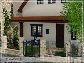 Sims 3 — Rue Marille 11. by timi722 — Row house for a single woman or man, with animals. The middle part is fully