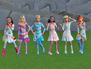 Sims 4 — dressed as a festive girl by padry67 — dressed as a festive girl, basic game and get together. Clothes with long