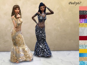Sims 4 — evening dress with transparencies by padry67 — This evening dress with transparencies, is a suit of the basic