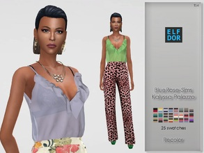 Sims 4 — BlueRose-Sims Kalyssa Palazzo RC by Elfdor — Its a standalone recolor of BlueRose outfit and you will need the