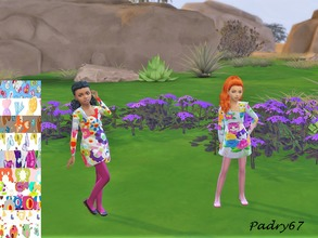 Sims 4 — colorful dress for girls - Dine Out needed by padry67 — colorful dress for girls. With spring still fresh but