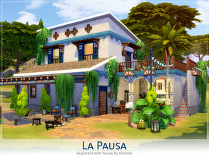Sims 4 — La Pausa by Lhonna — La Pausa is small house, excellent for a vacation house or for take a break between
