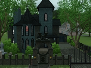 Sims 3 — Little Gothic by blgfan902 — Full of dark colors and a Halloween theme, this small Victorian home is made for