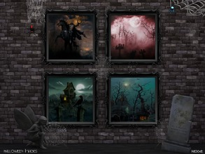 Sims 4 — Halloween Images by Paogae — Four paintings inspired by the Halloween atmosphere, will make castles and vampires