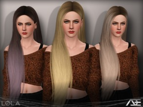 Sims 3 — Ade - Lola by Ade_Darma — New Hair Mesh No Morph all Bones assigned All LODs