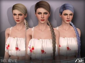 Sims 3 — Ade - Believe by Ade_Darma — New Hair Mesh No Morph all Bones assigned All LODs