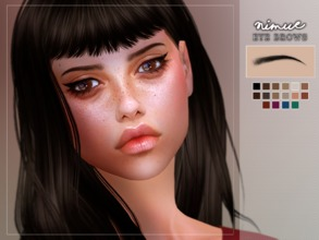 Sims 4 — [ Nimue ] - Eyebrows by Screaming_Mustard — Thinner eyebrows for Sims. For females, toddler +. With custom thumb