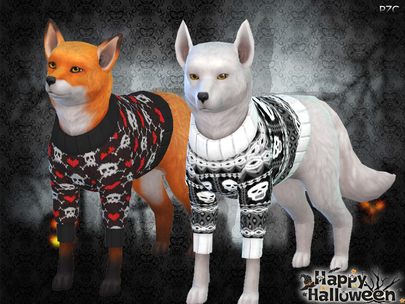 Pinkzombiecupcakes\u0027 Halloween Sweaters For Small Dogs(Cats