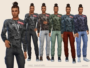 Sims 4 — MaleSweatshirt by Paogae — Casual crewneck sweatshirt in five colors, to use and match as you prefer.