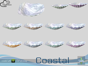 Sims 4 — Coastal Living Deco Shell 2 Small by BuffSumm — Part of the *Coastal Living Set* Created by BuffSumm @ TSR