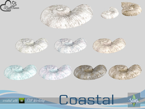 Sims 4 — Coastal Living Deco Shell 3 Small by BuffSumm — Part of the *Coastal Living Set* Created by BuffSumm @ TSR