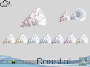 Sims 4 — Coastal Living Deco Shell 4 Small by BuffSumm — Part of the *Coastal Living Set* Created by BuffSumm @ TSR