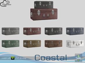 Sims 4 — Coastal Living Deco Suitcase Small by BuffSumm — Part of the *Coastal Living Set* Created by BuffSumm @ TSR