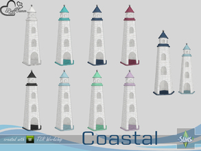 Sims 4 — Coastal Living Deco Lighthouse Large by BuffSumm — Part of the *Coastal Living Set* Created by BuffSumm @ TSR