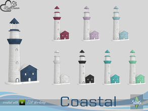 Sims 4 — Coastal Living Deco Lighthouse v2 by BuffSumm — Part of the *Coastal Living Set* Created by BuffSumm @ TSR