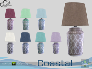 Sims 4 — Coastal Living Deco Tablelamp by BuffSumm — Part of the *Coastal Living Set* Created by BuffSumm @ TSR
